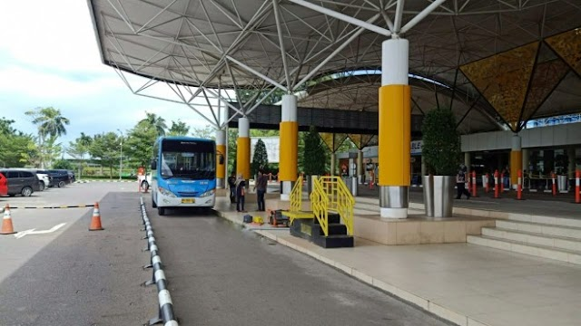 Bus Trans Siginjai Mulai Punya Halte Di Dalam Bandara Sultan Thaha Jambi