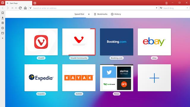 Browser Vivaldi untuk Windows