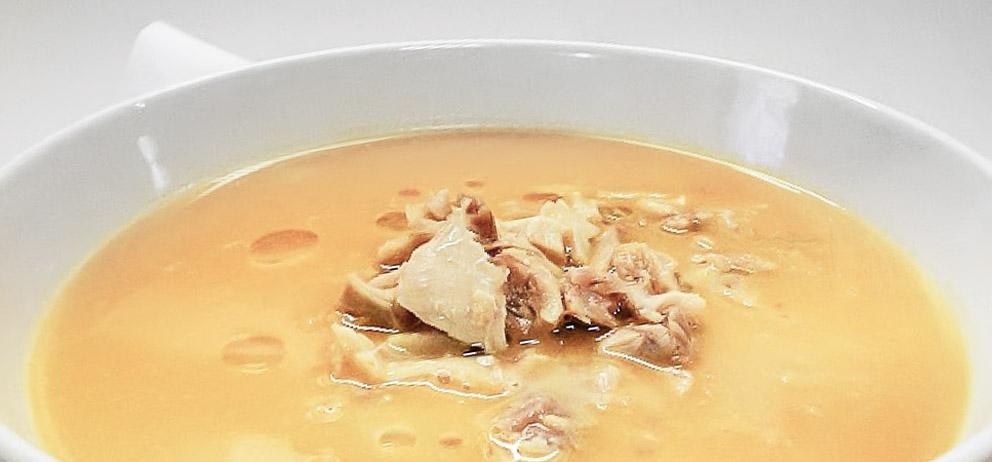 sopa de pollo para enfermos