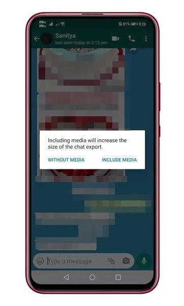 شرح نقل سجل الدردشة من واتس اب إلى تلغرام