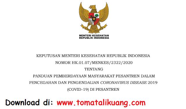 keputusan menteri kesehatan tentang panduan pencegahan covid-19 di pesantren pdf tomatalikuang.com