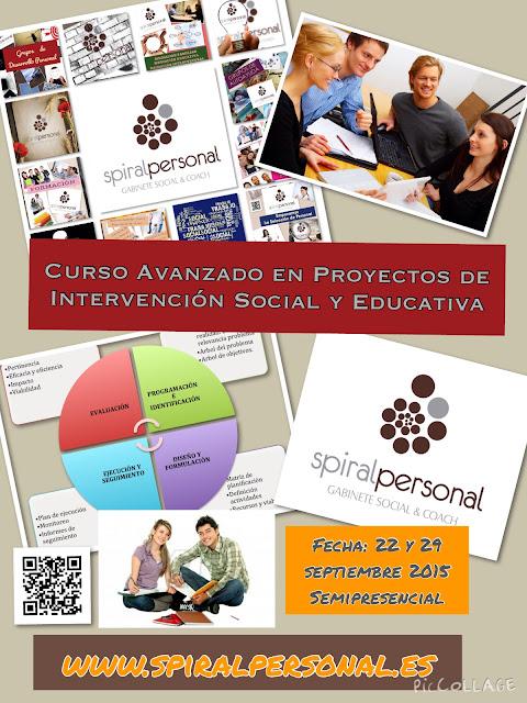 CURSO AVANZADO EN PROYECTOS DE INTERVENCIÓN SOCIAL Y EDUCATIVA. ! Últimas Plazas !