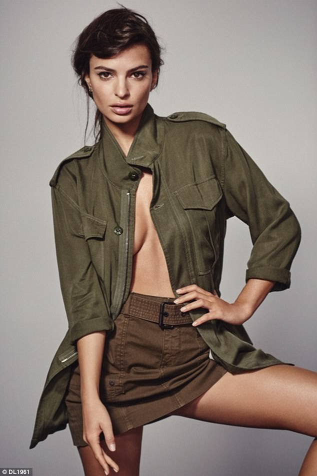 Emily Ratajkowski goes topless in sizzling new promo shots for posh denim brand DL 1961