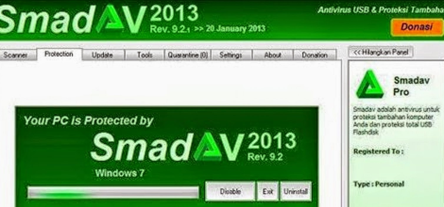 Download Free Antivirus Smadav 92 Update January 2013 ...