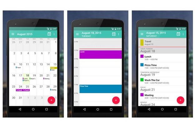εφαρμογή ημερολογίου ατζέντα android etar
