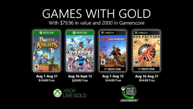 [Games with Gold] Δείτε τα δωρεάν παιχνίδια του Xbox για τον Αύγουστο