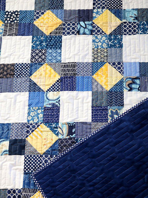 Scrappy Susannah quilt block tutorial from Andy at A Bright Corner