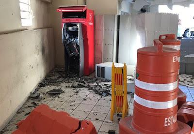 Em Campina Grande, caixa eletrônico da STTP é explodido