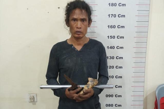 Polres Langkat tangkap Adi alias Gondrong pemeras supir truk