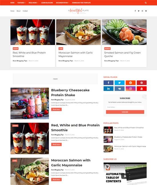 Blogger Yemek Tarifi Teması