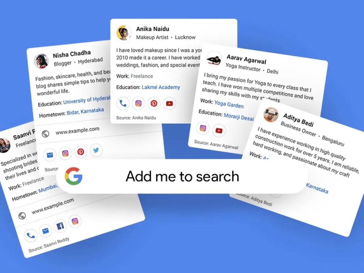 Add Me to Search: Cách Tạo Thẻ Google Ảo Của Bạn