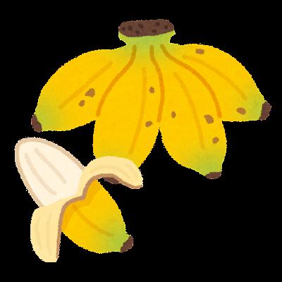 アップルバナナのイラスト