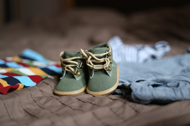 Little baby shoes and clothes