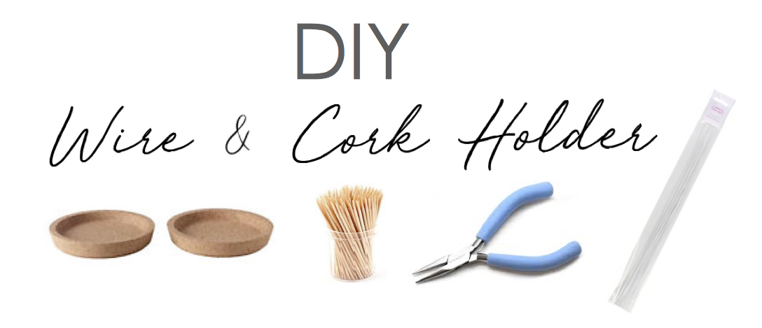 DIY Home Decor Ikea Hack Cake Wire and Cork Coaster Office Desk Storage Holder
