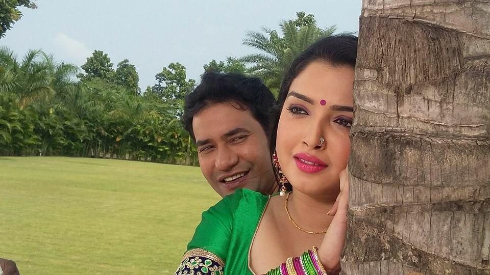 Amrapali Dubey, Dinesh Lal Yadav Song Shoot