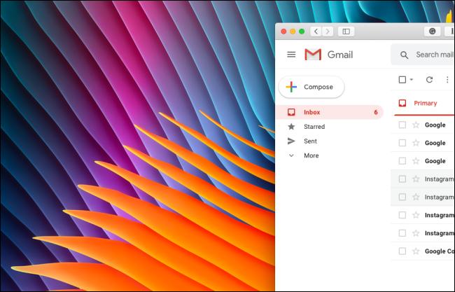 لا توجد أقسام Google Meet أو Hangouts Chat في الشريط الجانبي لـ Gmail