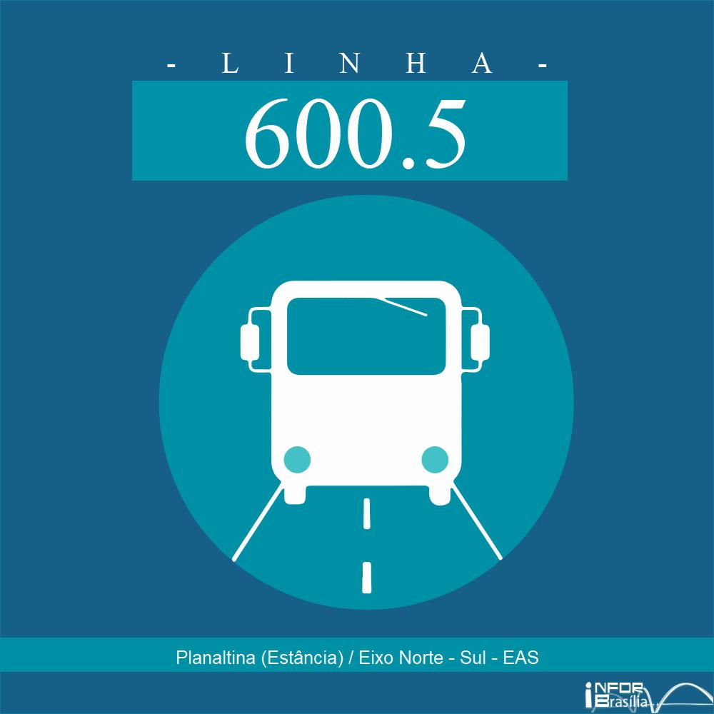 Horário de ônibus e itinerário 600.5 - Planaltina (Estância) / Eixo Norte - Sul - EAS