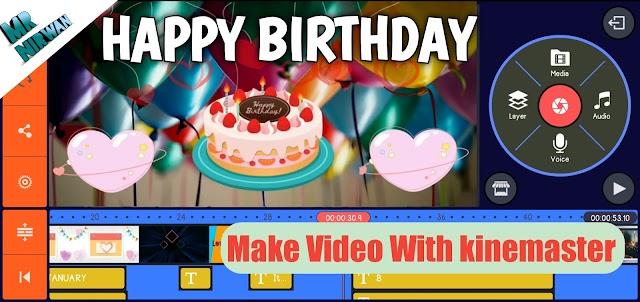 Happy Birthday  Wishing Video | Birthday Cake | Birthday Box  | Birthday song | Kinemaster |MrNirwan