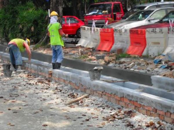 Pembinaan Bahu Jalan Berspesifikasi di Kerawang Daerah Machang Kelantan