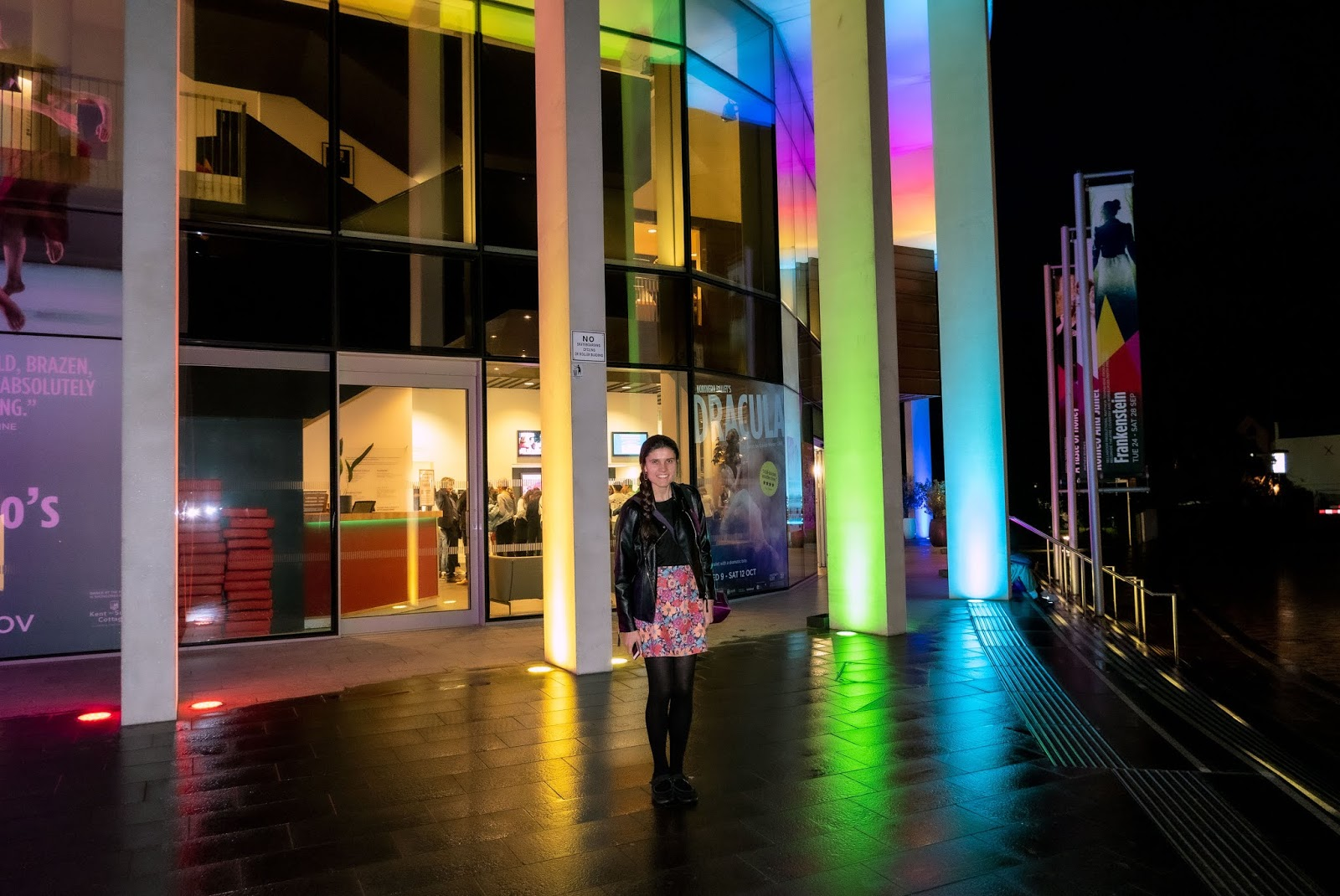 Kat Last outside The Marlowe Theatre before A Taste Of Honey