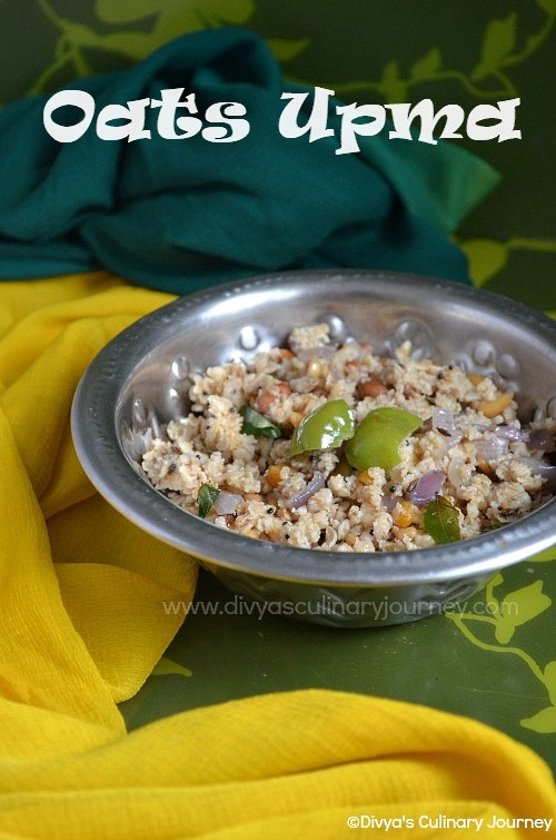 easy recipe for Oats Upma