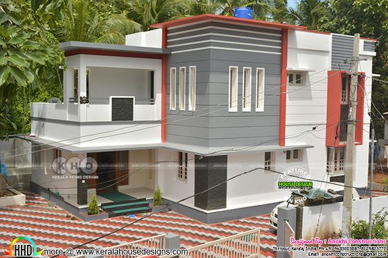 Work finished contemporary Kerala home design