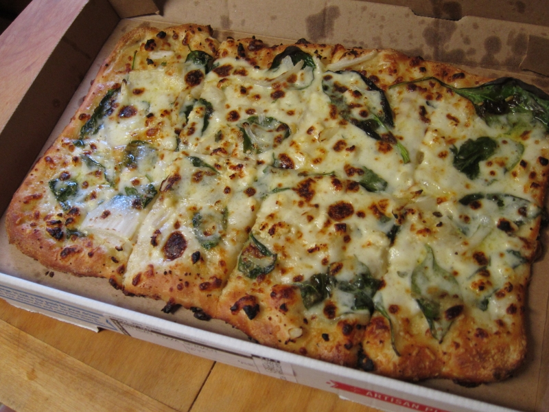 Review: Domino\'s - Spinach & Feta Artisan Pizza | Brand Eating