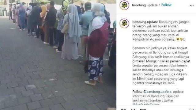 Bandung Kebanjiran Janda Baru, Tiap Hari Hampir Seribu Orang Mengantre Sidang Perceraian