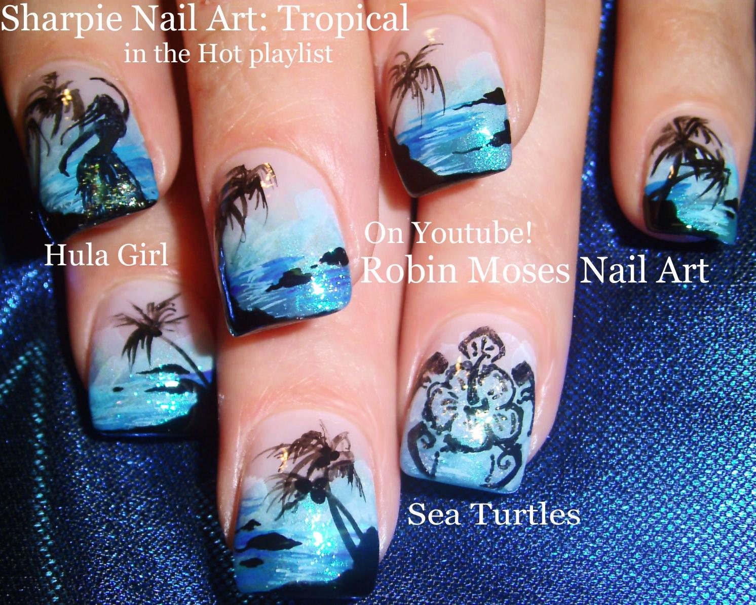 Nail Art by Robin Moses: Abstract Tropical Nails! \