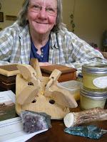 Carol Judy with fair trade items from Appalachia