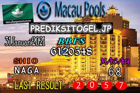 Prediksi Togel Macau Wangsit untuk Minggu, 31 Januari 2021