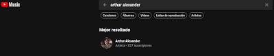 interfaz de Youtube music