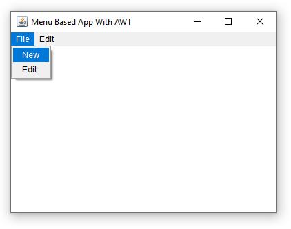 awt menu bar output