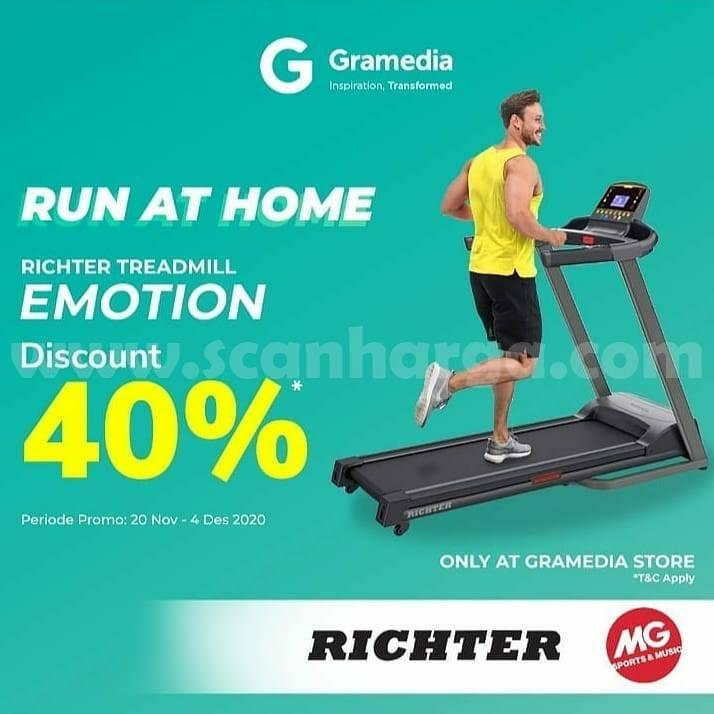 MG Sports Promo Richter Treadmill Exodus S Diskon 40% hingga 4 Desember 2020