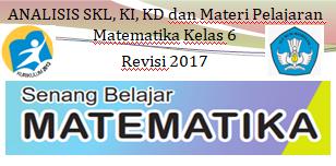 Analisis Keterkaitan SKL, KI, KD dan Materi Pembelajaran Matematika SD/MI Kelas 6