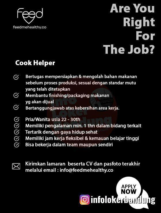 Lowongan Kerja Feedmehealthy Bandung November 2019