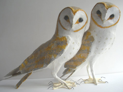 my owl barn anne lise koehler paper mache sculptures. Black Bedroom Furniture Sets. Home Design Ideas
