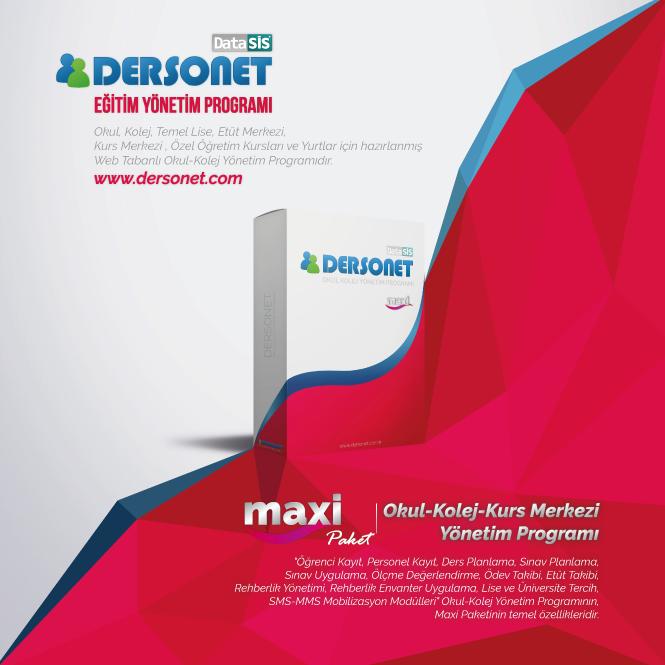 Dersonet Maxi Paket Okul Kolej Kurs Merkezi Yönetim Programı