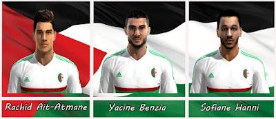 Faces: Rachid Ait-Atmane, Yacine Benzia, Sofiane Hanni, Pes 2013