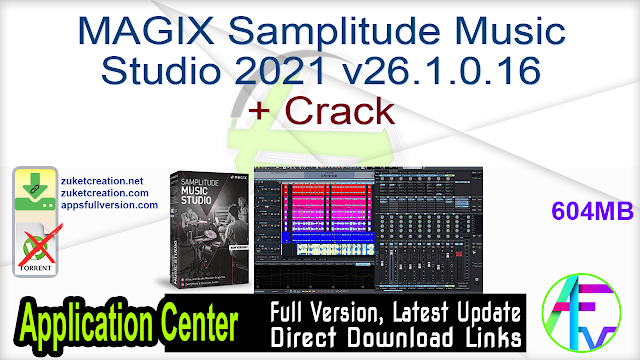 MAGIX Samplitude Music Studio 2021 v26.1.0.16 + Crack