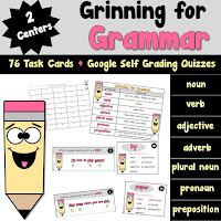 Grinning for Grammar Task Cards