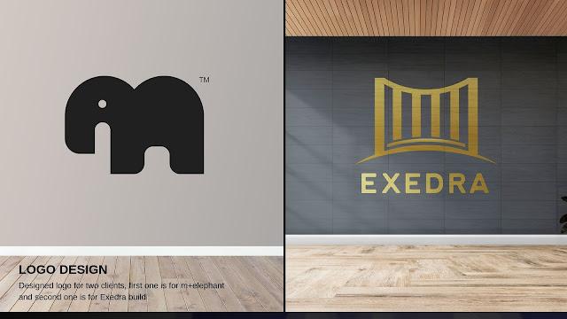 Logo Design for M+Elephant & Exedra Build wealth