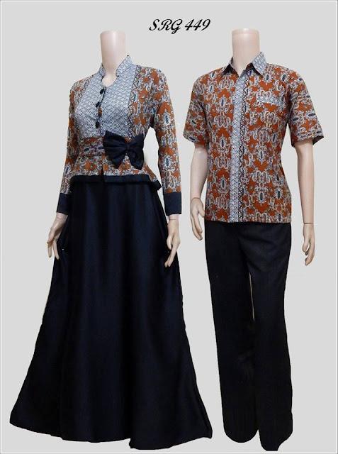 Gamis Batik Pasangan Untuk Pesta Pernikahan