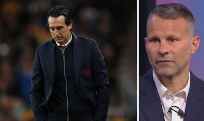 ryan giggs defends unai emery as remarkable