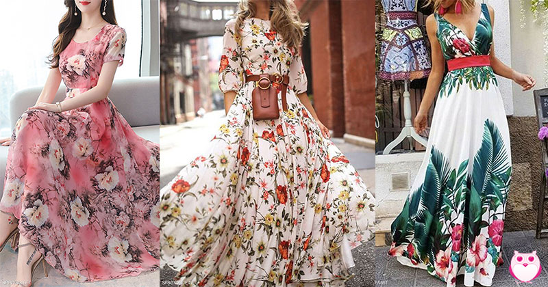 Floral Long Dresses for All Seasons