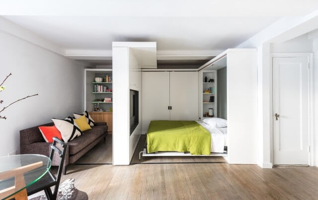07-Bedroom-Area-and-Reduced-Living-Room-Michael-K-Chen-Manhattan-Apartment-Architecture-that-Morphs-www-designstack-co