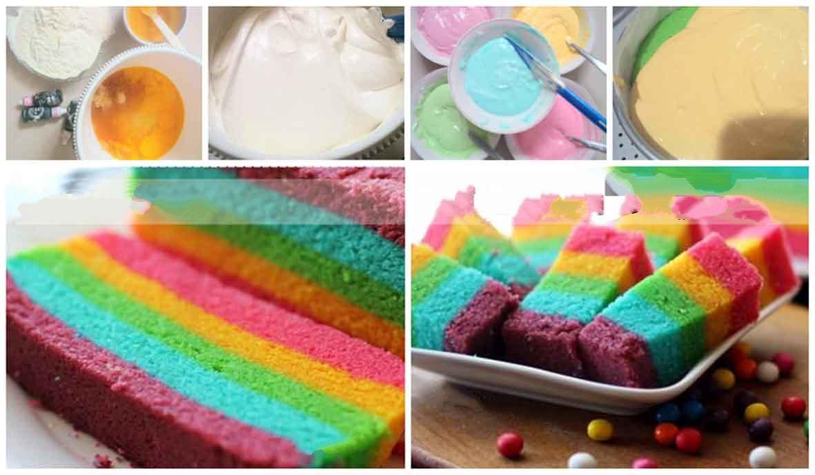 Rainbow Cake Kukus ala Ny. Liem.. Mudah dan Praktis Cukup ...
