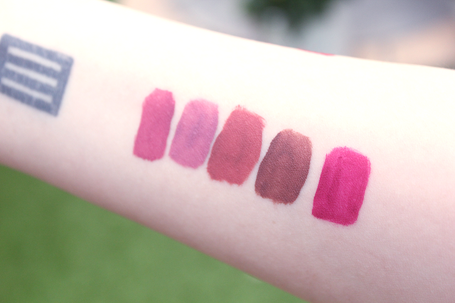 kat von d liquid lipstick swatches