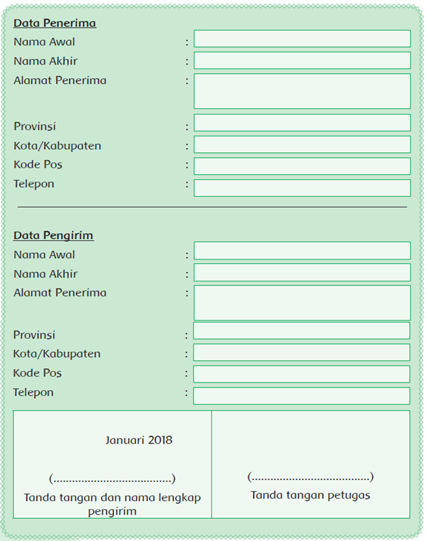 Formulir Pengiriman Barang : formulir, pengiriman, barang, DUNIA, BELAJAR:, Formulir, Pengiriman, Barang, Ujian