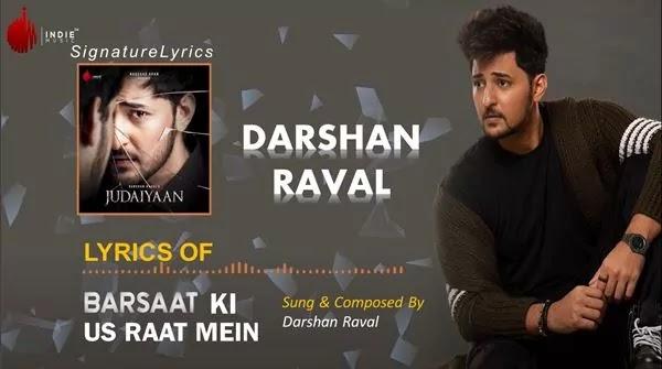 Barsaat Lyrics in Hindi - DARSHAN RAVAL